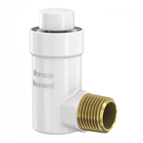 Автоматический поплавковый воздухоотводчик угловой Flexvent H 1/2 белый