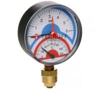 Термоманометр радиальный 0- 6 ATM.0-120°C (ICMA Италия)