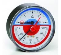 Термоманометр заднее подключение 0- 6 ATM.0-120°C (ICMA Италия)