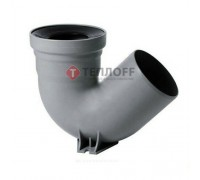 Сифон для напольного унитаза (чаши Генуя) 110x135°